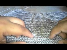 Topper em croche com Camila fashion por Cristina Amaduro - YouTube Crochet Videos, Needlework, Bikini, Womens Fashion, Clothes, Tutorial Crochet, Topper, Crochet Tops, 1