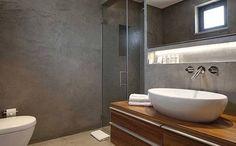 når du ønsker betong vegger på bad!