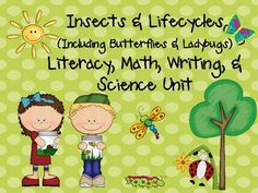 Insects & Lifecycles MEGA Unit for Literacy, Math, & Science Centers! In this unit, you will find 124 pages of math & literacy, science, and writing center activities and printables including: writing prompts, addition/subtraction, play dough mats, number order, roll & race to 100, write the room, sight word center, CVC center, flower graphing, insect vocabulary cards, patterns, and more! $
