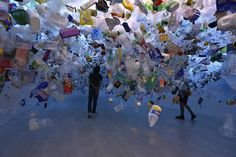 Plastic Ocean by artist-illustrator Tan Zi Xi is made from more than 20,000 pieces of discarded plastic.