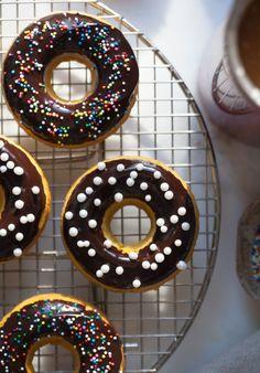 "guardians-of-the-food: ""Pumpkin Chocolate Doughnuts """