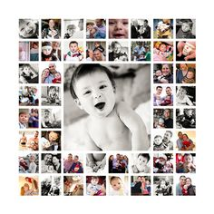 Canvas of baby's first year or create for a special anniversary or 50th bday or one big photo shoot! etsy by brooke