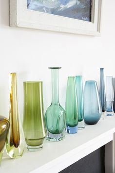 Color gradient of vases...I like that idea. Hmm...