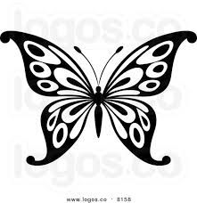 Royalty-free vector clipart illustration of a black and white butterfly logo. This butterfly stock logo image was designed and digitally rendered by Vector Tradition SM. Butterfly Stencil, Butterfly Clip Art, Butterfly Logo, Butterfly Drawing, Butterfly Template, White Butterfly, Butterfly Pattern, Butterfly Outline, Butterfly Pictures