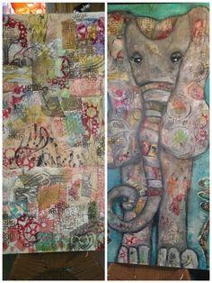 Beginning & End. Art progression by Kirsten Reed. www.kirstenreeddesigns.com