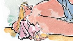 """Sophie """"No one is going to be worrying too much about me. That place you took me from was the village orphanage. We are all orphans in there."""" - Sophie, The BFG by Roald Dahl. Illustration by Quentin Blake. Roald Dahl The Twits, Roald Dahl Day, Roald Dahl Books, Book Characters Dress Up, Character Dress Up, Sophie From Bfg, Bfg Costume, The Bfg Book, Easy Costumes To Make"""
