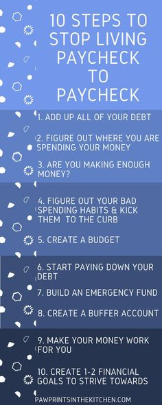 10 Easy to Follow Steps on How to Stop Living Paycheck to Paycheck! - These steps are simple and will help you to gain some financial freedom! - Paw Prints in the Kitchen #budget #paychecktopaycheck #financialfreedom