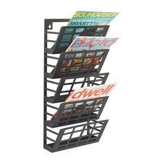 office depot magazine rack. Safco 5 Pocket Steel Grid Magazine Rack 21 12 H X 9 W D Black, With A Powder Coat Finish For Added Durability At Office Depot \u0026 OfficeMax.
