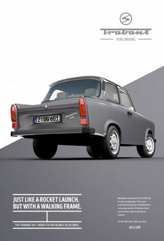 Advertising Campaign : Adeevee - Trabant Pure driving Advertising Campaign Inspiration Adeevee – Trabant Pure driving Advertisement Description Adeevee – Trabant Pure driving Don't forget to share the post, Sharing is caring ! Ads Creative, Creative Advertising, Advertising Design, Poster Ads, Car Posters, Bike Poster, Advertising Poster, Advertising Campaign, Web Design Mobile