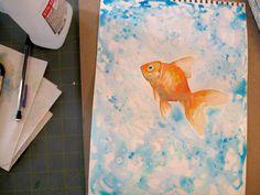 Risultati immagini per goldfish watercolor