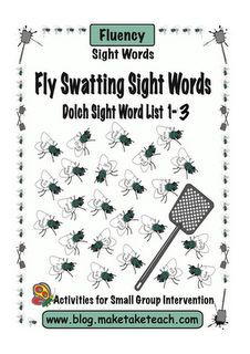 Fly Swatting Sight Words -  Pinned by @PediaStaff – Please Visit http://ht.ly/63sNt for all our pediatric therapy pins