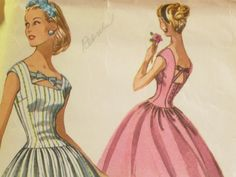 Easy Sew Beautiful Bows Vintage Dress Pattern by EmSewCrazy