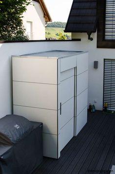 design gartenhaus @gart_eins, by design@garten - Heilbronn, Germany never painting #Gartenhaus #HPL #Gerätehaus
