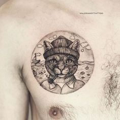 This cat who is also a fisherman. | 26 Totally Purrr-Fect Cat Tattoos http://fancytemplestore.com