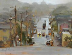 Kim English Mists of Portland, oil on panel, 10 x 12 inches   SOLD
