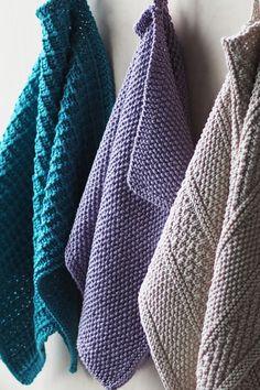 Neulottu laventelin värinen pikkupyyhe Novita Cotton Bamboo   Novita knits Diy And Crafts, Yarn Crafts, Diy Gifts, Knit Crochet, Knitting, Knits, Gift Ideas, Fashion, Moda