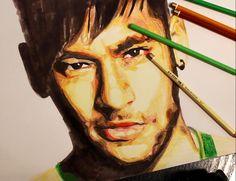 Drawing Neymar   time lapse
