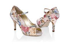 Rachel Simpson vintage floral peeptoes