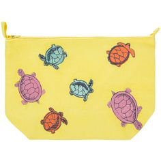 Marinette Saint Tropez Turtle Cosmetics Bag - Yellow (€23) ❤ liked on Polyvore featuring beauty products, beauty accessories, bags & cases, yellow, dop kit, cosmetic purse, travel toiletry case, travel bag and wash bag