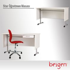"""Her öğretmenimiz Star'dır. Öğretmenlerimiz için özel tasarlanan """"Star Öğretmen Masası"""" modern çizgisi ile ergonomik ve şık bir çözüm sunar."""