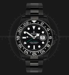 A blacked out Rolex. Wow, a non glitzy Rolex actually looks pretty nice! Still as expensive, though.