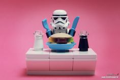 Lego Star Wars Stormtrooper - Time for lunch.