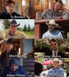 The Heartland Men Made this back in October and only found it last night posting early(ish) cos I feel like crap and have a migraine… Heartland Quotes, Heartland Ranch, Heartland Tv Show, Heartland Seasons, Best Tv Shows, Best Shows Ever, Amber Marshall, Marshall Lee, Ty E Amy