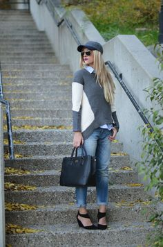 High-Low Sweater from blogger Little Miss Fearless