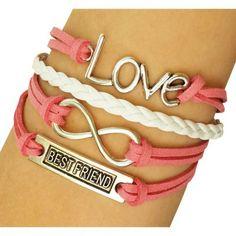 Coral Best Friend Arm Party Bracelet