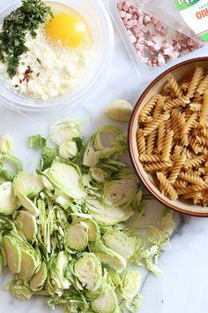 Brussels Sprouts Carbonara | Skinnytaste#more#more
