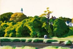Edward Hopper (1882-1967) - Landscape with Tower