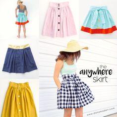 NEW Pattern — The Anywhere Skirt! — for Women + Teens + Girls | MADE