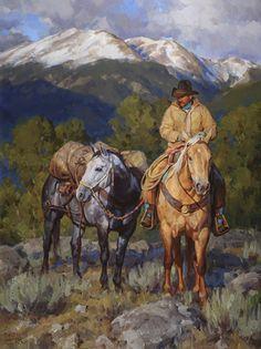 """Mountain Solitude"" by Jason Rich (Cowboy Artist)"