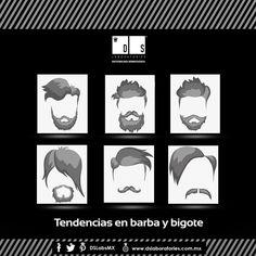 Conoce las tendencias de barba y bigote en esta temporada y sal a lucir un look imponente. ¿Cuál estilo te agrada más? Mexico, Movie Posters, Art, Beard Styles, Moustaches, Seasons, Trends, Men, Art Background