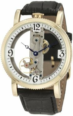 Akribos XXIV Men's AKR478YG Round Viaduct Mechanical Skeleton Strap Watch Akribos XXIV. $139.00. Round coin edge case with bridge movement.. A coin edge bezel and genuine calfskin leather strap make this timepiece a great addition to your formal or everyday wardrobe.. This classic timepiece from Akribos XXIV showcases a stunning bridge style mechanical movement.. Watch arrives in a Akribos XXIV gift box complete with a 2 year limited warranty. Stylish and sophisti...