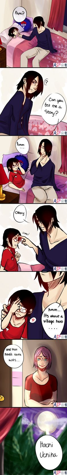 Sasuke and Sarada (I'm gonna cry..)