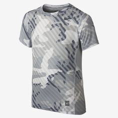 Nike Pro Hypercool Fitted Woodland Graphic Boys' Shirt