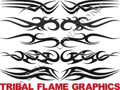 C Tribal Flame Windshield Sticker Decal Graphics Banner | eBay