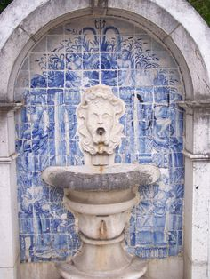 Portuguese Tiles, Azulejos, Portugal Handmade tiles can be colour coordinated and customized re. shape, texture, pattern, etc. by ceramic design studios