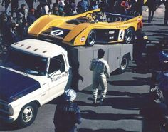 M-20 Can Am 1972. Peter Revson's car with Jackie Stewart's name still on the Fender!