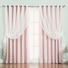Rose Street Light Pink Wide Dot Lace 80 x 84 in. Blackout Window Treatments, Set of Two Blackout Panels, Blackout Windows, Tulle Curtains, Grommet Curtains, Sheer Curtain Panels, Panel Curtains, Rose Street, Colorful Curtains, Tulle Lace