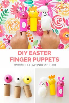 Creative Activities For Toddlers, Spring Activities, Holiday Activities, Holiday Crafts, Learning Activities, Bunny Crafts, Easter Crafts For Kids, Easter Ideas, Puppet Crafts