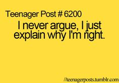 Teenager Post 6200 - There's a difference you guys...only I'm not a teenager anymore, hmm
