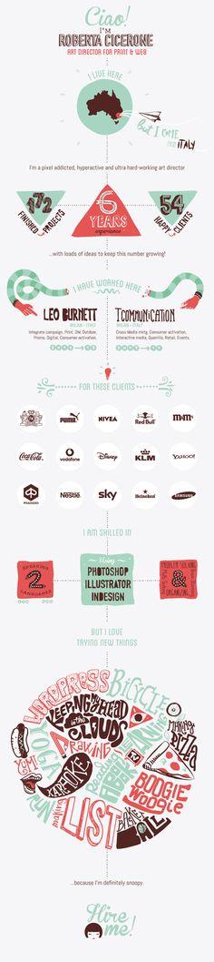 A Graphic Designer's Creative Infographic-Style Resume - DesignTAXI.com