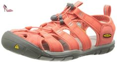 Keen  CLEARWATER CNX W-HOT CORAL/DRIZZLE, sandales femme - Orange  - Orange (HOT CORAL/DRIZZLE), 38.5 EU - Chaussures keen (*Partner-Link)
