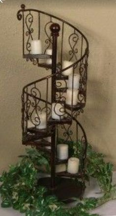 Iron Staircase, Spiral Staircases, Wrought Iron Candle Holders, Wrought Iron  Decor, Iron