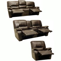 The Walton dark brown Italian leather motorized reclining sofa, motorized reclining loveseat, and glider/recliner chair are handcrafted using time-honored Old World techniques. This furniture features premium Italian leather and a durable hardwood frame.