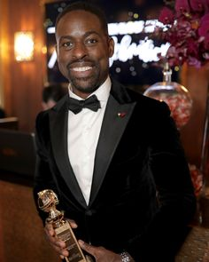 """2,723 Likes, 39 Comments - O, The Oprah Magazine (@oprahmagazine) on Instagram: """"Last night, @sterlingkbrown made history by becoming the first black actor to win a Golden Globe…"""""""