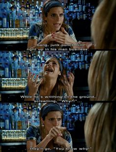 By far the funniest line, I still quote it today. It's a hidden gem- -What Happens In Vegas