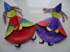 Witch paper plate craft for some Halloween books. Theme Halloween, Halloween Crafts For Kids, Halloween Activities, Holidays Halloween, Fall Crafts, Holiday Crafts, Paper Plate Art, Paper Plate Crafts, Paper Plates